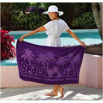 Jewel Collection Coloured Beach Towel (BTL-17_QZ)