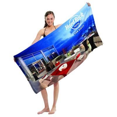 Microfibre Velour Beach Towel (BTL-P01_QZ)