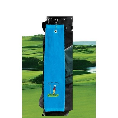Premium Velour Trifold Golf Towel - (printed with 4 colour(s)) GT-04_QZ