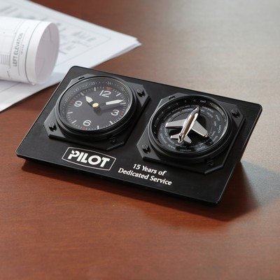 Auto Adjusting Aviator Clock - (printed with 1 colour(s)) GW-03_QZ