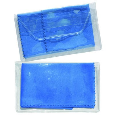 Micropak Microfibre Cloth In Clear Pouch - (printed with 1 colour(s)) PI-C03_QZ