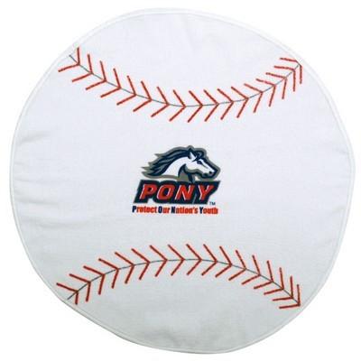 Baseball Shaped Sports Towel (SPT-14_QZ)