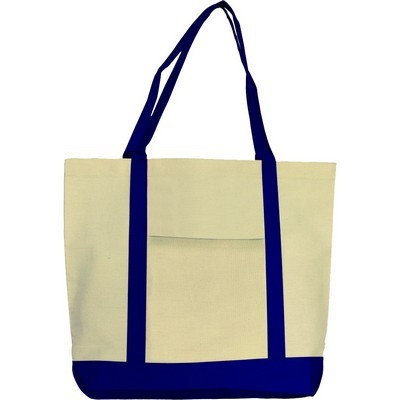Boat Mate Gusseted Canvas Tote (TT-C06_QZ)