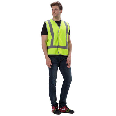 Hi-Vis Safety Vest With Reflective Tape - (VST-F01_QZ)