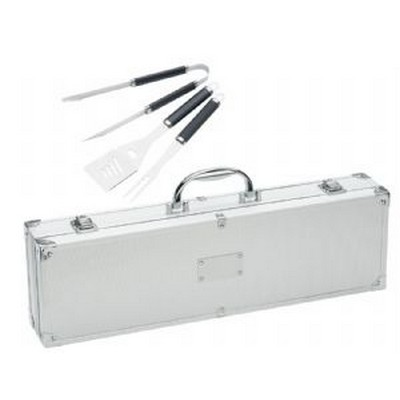 Stainless Steel BBQ Set Case - (printed with 1 colour(s)) 771SL_RNG_DEC