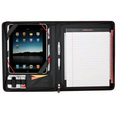 Elleven Large Zippered Padfolio - (printed with 1 colour(s)) EL001BK_RNG_DEC