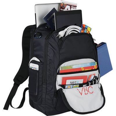 Elleven Rutter TSA 17```` Computer Backpack - (printed with 1 colour(s)) EL024BK_RNG_DEC