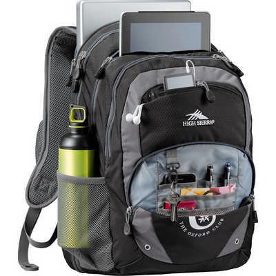 High Sierra Overtime Fly-By 17 inch Computer Backpack - Black HS1004BK_RNG_DEC