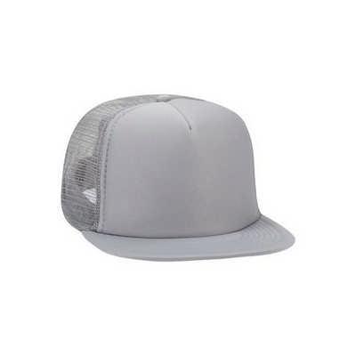 Grey Half Mesh Trucker Cap
