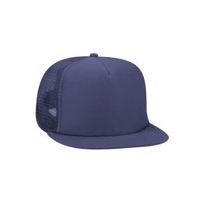 Navy Blue Half Mesh Trucker Cap