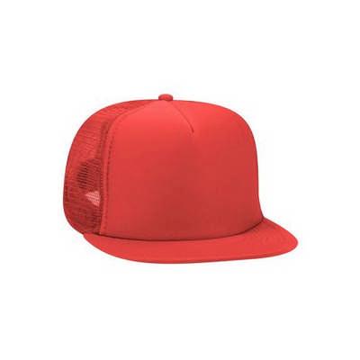 Red Half Mesh Trucker Cap