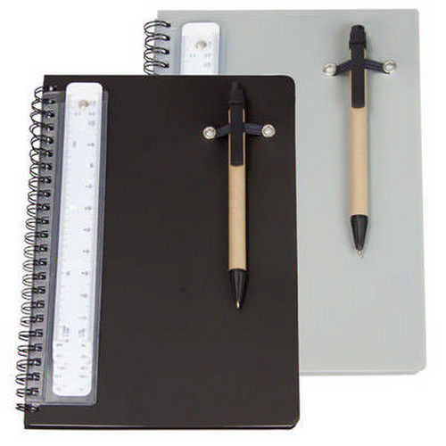 A5 notebook with pen and scale ruler G1108_ORSO_DEC