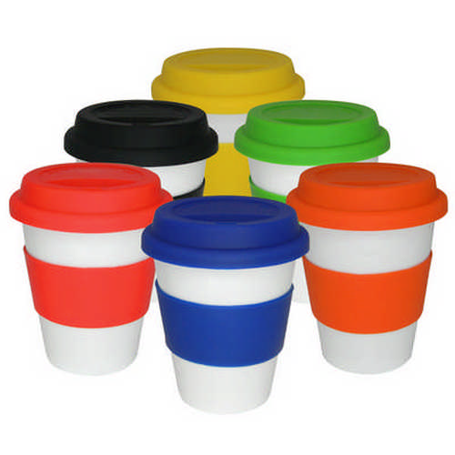 White ceramic takeaway cup - (printed with 1 colour(s)) G1111_ORSO_DEC