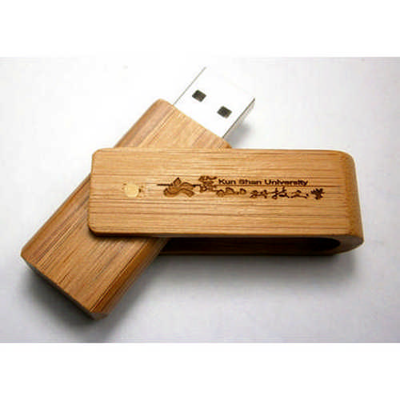 Bamboo timber swivel USB