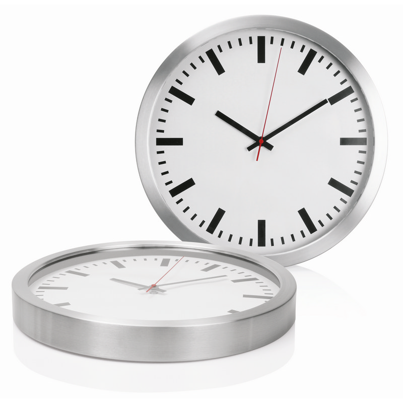 40cm Aluminium Wall Clock C472_GLOBAL