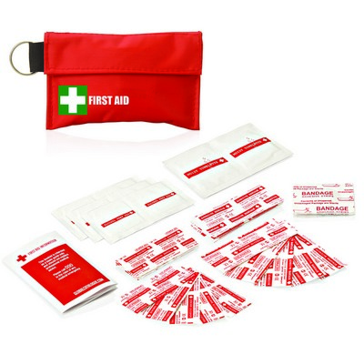 34pc First Aid Pouch On Keyring FA111_GLOBAL