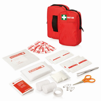 30pc First Aid Kit - Belt Pouch w/Front Pocket FA112_GLOBAL