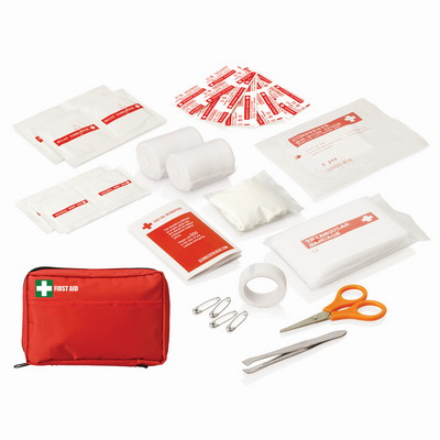 30pc First Aid Kit - Carry Pouch w/Front Pocket FA113_GLOBAL