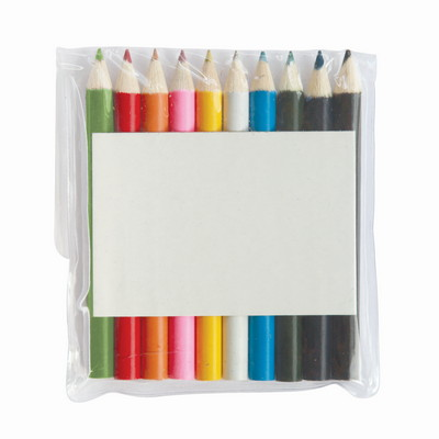 10 Coloured Pencils in Pouch