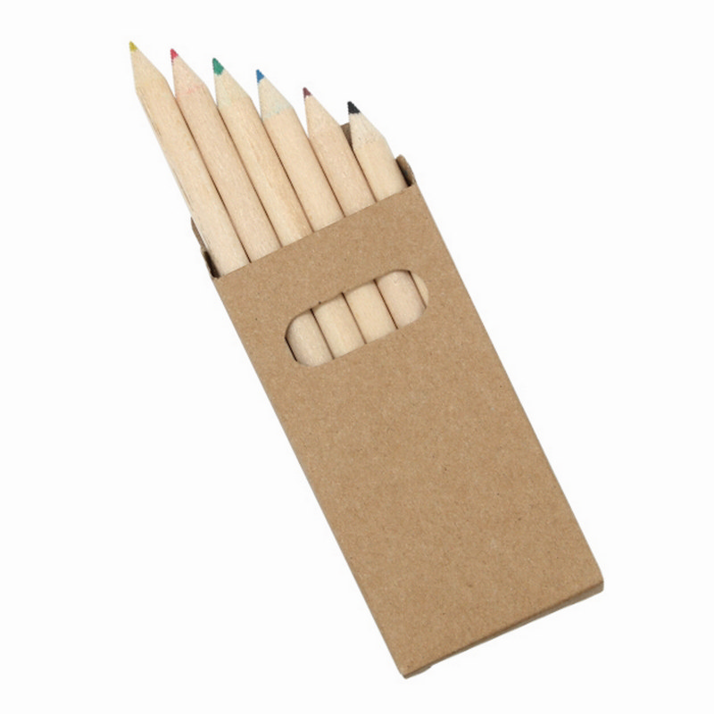 6 Pack Natural Wood Colouring Pencils - (printed with 1 colour(s)) Z404_GL_DEC