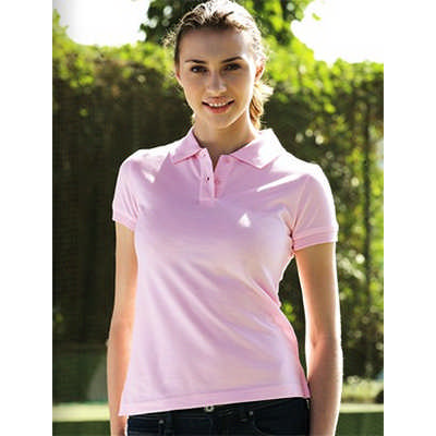 Ladies Pique Knit Fitted CottonSpandex Polo (CP0756_BOC)