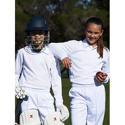 Kids Long Sleeve Cricket Polo (CP1214_BOC)