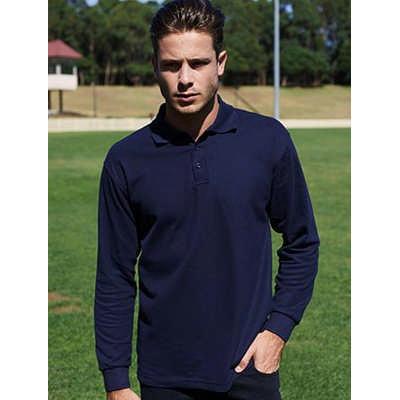 Mens Long Sleeve Basic Polo (CP1401_BOC)
