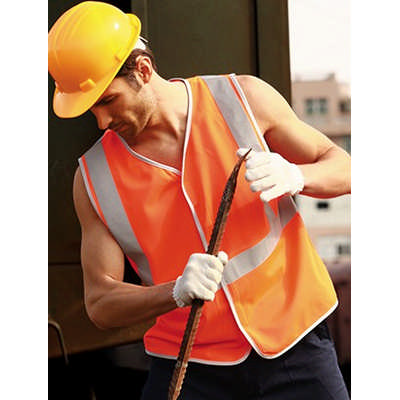 Unisex Adults Hi-Vis Vest With Crossing Tape (SJ0323_BOC)