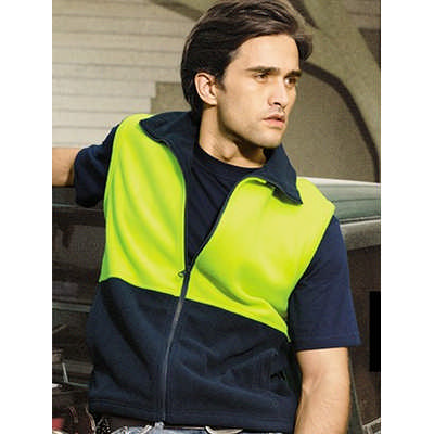 Unisex Adults Hi-Vis Polar Fleece Vest (SJ0541_BOC)