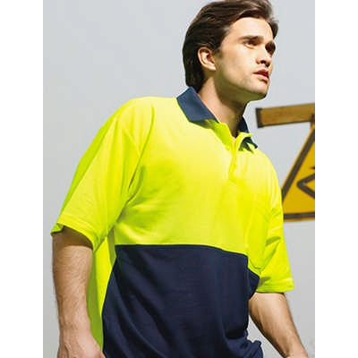 Unisex Adults Hi-Vis PolyCotton Polo -Short Sleeve (SP0359_BOC)