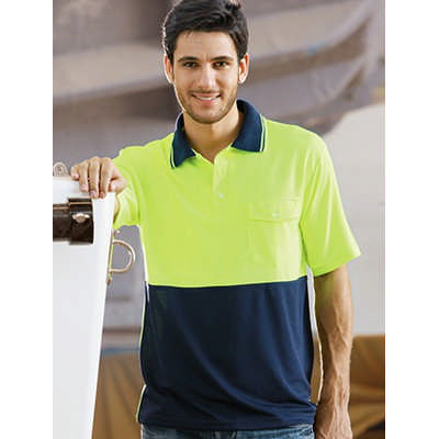 Unisex Adults Hi-Vis Safety Polo - Short Sleeve (SP0427_BOC)