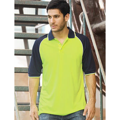 Unisex Adults Hi-Vis Raglan Sleeve Polo (SP0543_BOC)