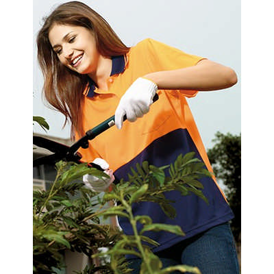 Ladies Hi-Vis SS Safety Polo (SP0692_BOC)