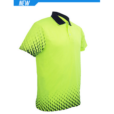 Unisex Adults Hi-Vis Gradient Polo (SP0703_BOC)