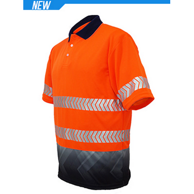 Unisex Adults Hi-Vis SS Sublimated Reflective Polo (SP0723_BOC)
