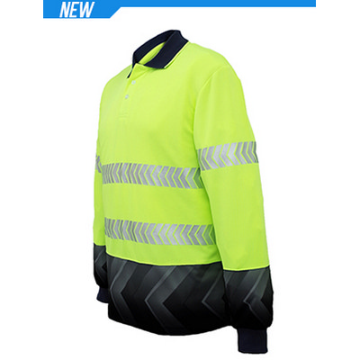 Unisex Adults Hi-Vis LS Sublimated Reflective Polo (SP0724_BOC)