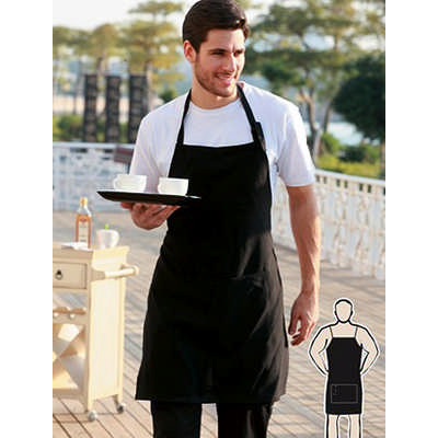 Cotton Drill Full Bib Apron -No Pocket (WA0397_BOC)