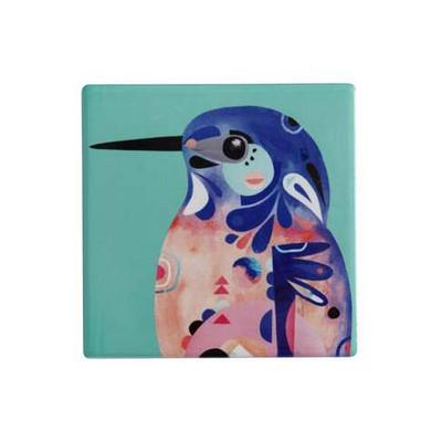 Maxwell & Williams Pete Cromer Ceramic Square Tile Coaster 9.5cm Az Kingfis (DU0083_PPI)