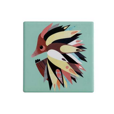 Maxwell & Williams Pete Cromer Ceramic Square Tile Coaster 9.5cm Echidna (DU0085_PPI)