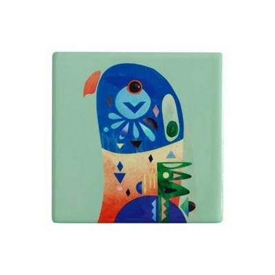 Maxwell & Williams Pete Cromer Ceramic Square Tile Coaster 9.5cm Lorikeet (DU0086_PPI)