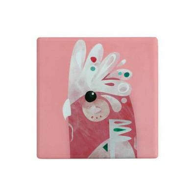 Maxwell & Williams Pete Cromer Ceramic Square Tile Coaster 9.5cm Galah (DU0087_PPI)