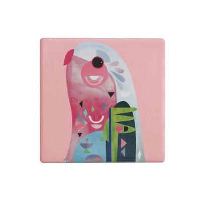 Maxwell & Williams Pete Cromer Ceramic Square Tile Coaster 9.5cm Parrot (DU0088_PPI)