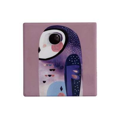 Maxwell & Williams Pete Cromer Ceramic Square Tile Coaster 9.5cm Owl (DU0089_PPI)