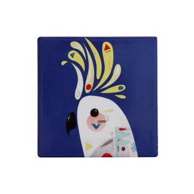 Maxwell & Williams Pete Cromer Ceramic Square Tile Coaster 9.5cm Cockatoo (DU0091_PPI)