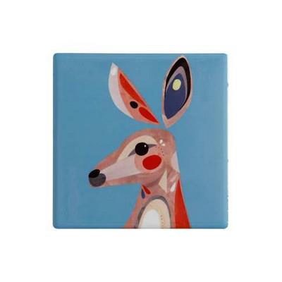 Maxwell & Williams Pete Cromer Ceramic Square Tile Coaster 9.5cm Kangaroo (DU0094_PPI)