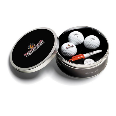 Titleist 3 Ball ProV1 Tin - (printed with 1 colour(s)) 3BBCPROV_PPI