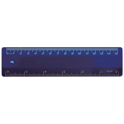 Ruler 15cm Navy Blue (RULE15CM007_PPI)