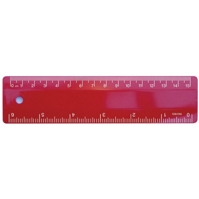 Ruler 15cm Red (RULE15CM003_PPI)
