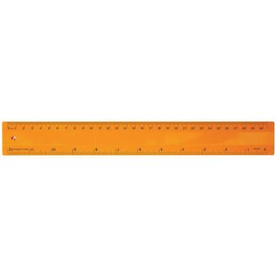 Ruler 30cm Fluro Orange (RULE30CM011_PPI)