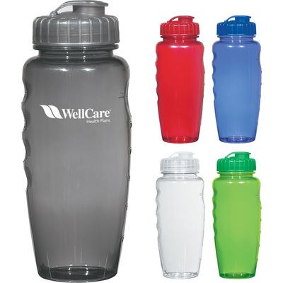 800Ml Poly-Clear Gripper Bottle - (printed with 1 colour(s))